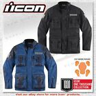 Icon 1000 Collection Beltway Textile/Leather D3O CE Armor Motorcycle Jacket