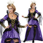CL26 Wicked Queen Snow White Adult Gothic Fancy Dress Halloween Costume Outfit