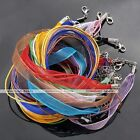 10x Organza Voile String Ribbon Cord Silk Necklace Lobster Clasp Making DIY Lots
