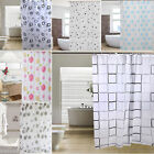 Luxury Modern Bathroom Shower Curtains Extra Long with Hooks 180 x 200cm