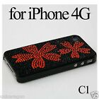 Bling Shiny Crystal Diamond Rhinestone Hard Case Back Cover for iPhone 4 4G 4th