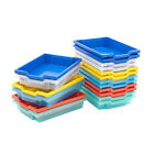 Single Shallow Gratnells School Trays Plastic Storage Boxes Containers 7 Colours