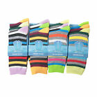 L017 LADIES GIRLS 12prs FUNKY STRIPE DESIGN PATTERN DESIGN SOCKS WORK HOLIDAY
