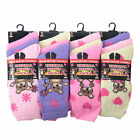 L015 LADIES 12prs CHUNKY THERMAL SOCKS CUTE TEDDY BEAR DESIGN HIKE BOOT SOCKS