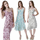 Donna Bella Summer Tea Embellished Chiffon Casual Party Lace Print Floral Dress