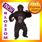 C570 Mens Gorilla With Chest Ape Monkey Mascot Deluxe Halloween Adult Costume