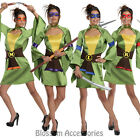 CL61 Womens TMNT Geisha Sexy Costume Teenage Mutant Ninja Turtles Halloween
