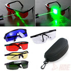 Tinted Laser Safety Hard Glasses Goggles w/ Protective Case + Cleaning Cloth
