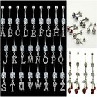 WOMENS SPARKLING DIAMANTE SURGICAL STEEL JEWELLERY NAVEL BARS VARIOUS DESIGNS