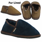 Mens MOCCASIN SLIPPERS Faux Suede Fur Lined Shoes Size Coolers Size UK 7-12