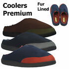MENS COMFORT TWO TONE FLAT WARM WINTER CASUAL SLIPPERS FUR LINED SHOES UK SIZES