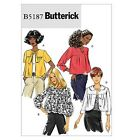 SEWING PATTERN Butterick B5187 Misses BABY DOLL STYLE FASHION JACKETS
