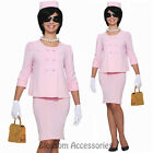 CL83 First Lady 50s 60s Pink Suit Jackie O Fancy Dress Women Costume Outfit