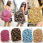 Women Girls Canvas Shoulder Bag Backpack Rucksack Satchel School Bookbag