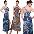 Digital Print Floral Sexy One Shoulder Party Evening Cocktail Holiday Long Dress