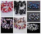 8x13mm Teardrop Charm Faceted Pendant Glass Crystal Loose Spacer Beads Findings