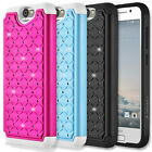 New For HTC One M8 Rugged Impact Hybrid TPU PC Bumper Frame Case Cover Protector