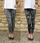 LONG Length Knitted Jersey Jaquard Viscose Leggings     SIZES 8-20...  Tall