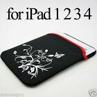 "Sleeve Case Cover Bag SP for iPad 1 2 3 4 Air New iPad Tablet 10""Laptop E-reader"