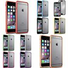 Colorful TPU Bumper Rubber Skin Case+Mirror Protector For iPhone 6 Plus 5.5 inch