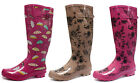 County Classic Print Wellies Womens Long Wellington Boots ALL SIZES AND COLOURS