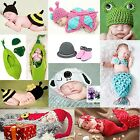 Newborn Baby Girl Boy Crochet Knit Hat Cap Costume Photography Prop Outfit B20E