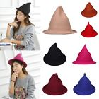 New Womens Fashion Wool Witch Hat Costume Party Fancy Dress Round Cloche Cap
