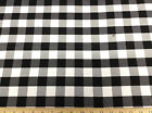 Discount 62 inch wide Twill Tablecloth Fabric Black and White Check 22DR