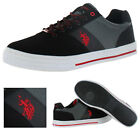 US Polo Assn Helm In Nubuck Mens Court Shoes Sneakers