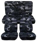 CC NEW Camouflage Jeep Wrangler TJ / YJ Front and Rear Seat Covers with DESIGN