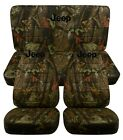 1987-2002 Jeep Wrangler Camouflage Front and Rear Seat Covers W Design Choose Camo