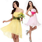 Strappy Colour Block Chiffon Flower Girl Summer Wedding Party Prom Dress