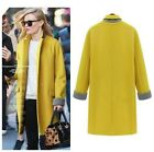 Winter Fall Womens Long Sleeve Wool Pocket Trench Jacket Coat Overcoat Parka -LA