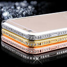 Luxury Crystal Rhinestone Metal Bumper Case For iPhone 6 Plus 5.5Inch SBU