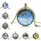 1xBrown Chain Colorful Vintage Women Glass Cabochon Pendant Necklace DIYJewelry