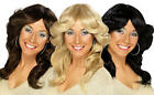 Ladies 1970s Flick Wig Fancy Dress Womens Abba Charlies Angels 70s Accessory New