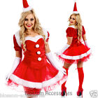 K21N Santa Claus Christmas Helper Fancy Dress Up Costume Xmas Party Outfit & Hat