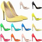 WOMENS HIGH HEELS SHOES POINTED CORSET DRESS PUMPS COURT SIZE 2 3 4 5 6 7 8 9