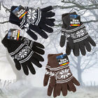 ADULTS MENS STORM WARMERS PATTERNED KNITTED WARM INSULATED THERMAL WINTER GLOVES