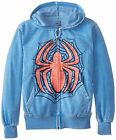 Mad Engine Marvel Scratch Test Youth Full Zip Hoodie - Blue Heather