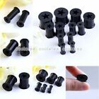 Pick Gauge Star Black Flexible Silicone Flare Ear Tunnel Plug Expander Stretcher