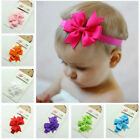 New 10pcs Grosgrain Kids Baby Girl Toddlers Hair Band Bow Headbands Accessories