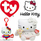 OFFICIAL HELLO KITTY TY BEANIE BABIES KEY CLIP AND BIG COLLECTABLE WITH TAGS