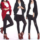 Women Warm Batwing Shawl Oversize Knitwear Casual Sweater Jacket Coat Cardigan