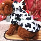 Dog Cat Pet Puppy Halloween Cosplay COW Costume Hoodie Coat Clothes XS/S/M/L/XL