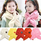 Girl Boy Kid Children Fashion Winter Stuffed Flower Scarf Warm Scarf Shawl Gift