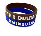 Youth/Small Adult Type 1 Diabetes -On Insulin Silicone Bracelet