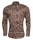 RELCO PLATINUM COLLECTION Satin Cotton Paisley Shirt White Mustard 60s Mod Skin