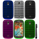 For Samsung Galaxy Light T399 TPU Argyle SILICONE Soft Case Phone Cover + Pen