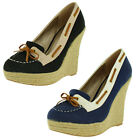 Hot Fashion Resort Women's Espadrille Boat Shoes Wedges Nautical